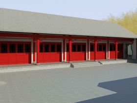 一套经典的北京四合院BIM模型免费下载