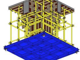 工艺质量样板族文件:梁柱支模样板做法rfa格式免费下载