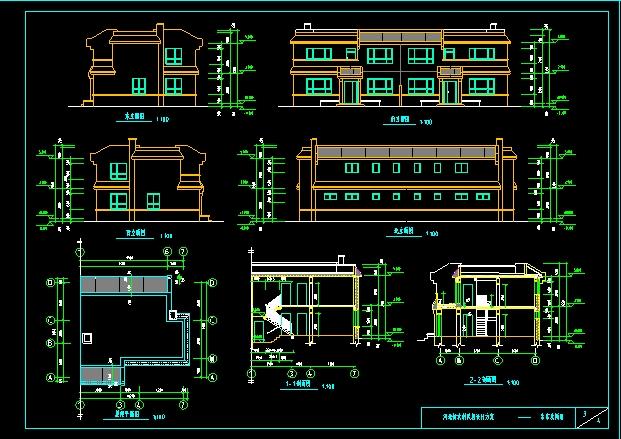 功能齐全、造价低廉的双层新世纪农村住宅图纸参考