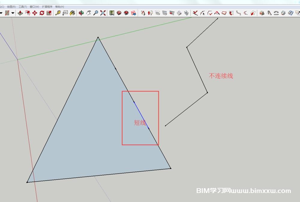 sketchup中多条短线快速连接成整的面域方法