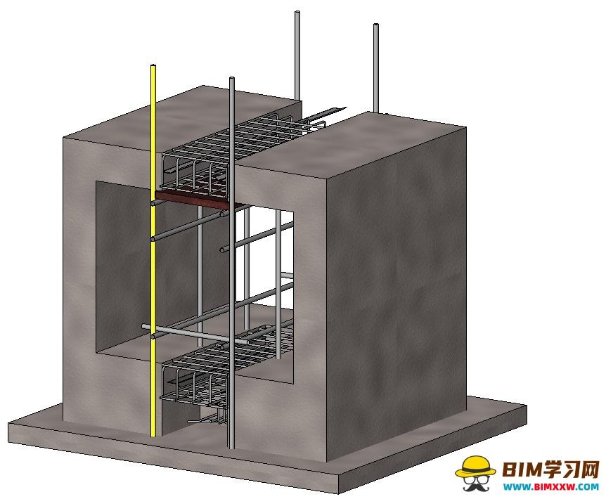 工艺质量样板族文件:地下室结构工艺样板做法rfa格式免费下载