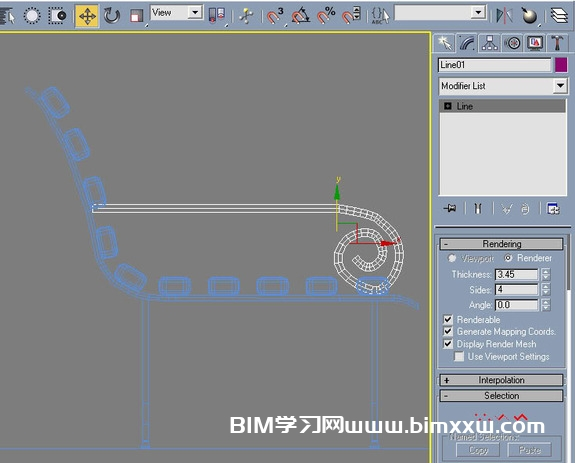 3DSMAX公园长椅建模详解教程