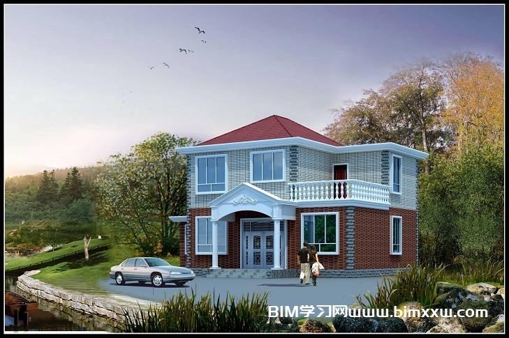 农村独栋两层占地100平的小别墅专业齐全图纸