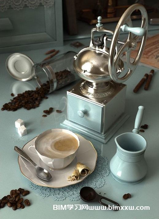 用3ds Max创建历史感的咖啡场景教程