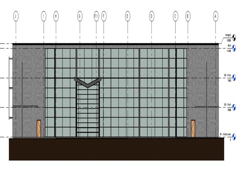 三层商务办公楼Revit模型免费下载