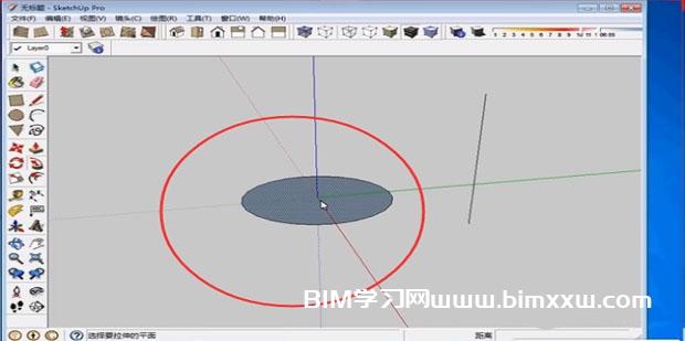 草图大师Sketchup跟随路径功能怎么快速绘制圆柱体?