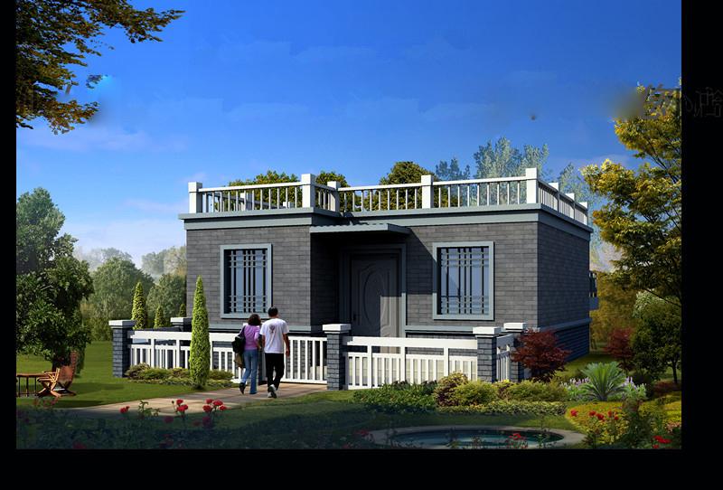 60平米独立带院别墅户型建筑图建模参考