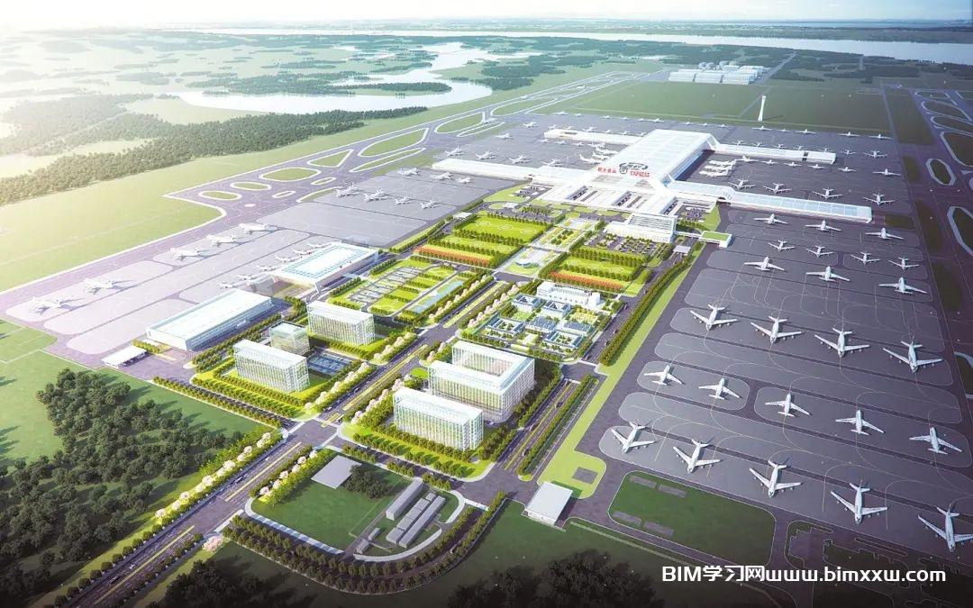 """""""鄂州机场""""实体与虚拟同时施工,全程应用数字化技术,竣工后BIM构件亿级"""
