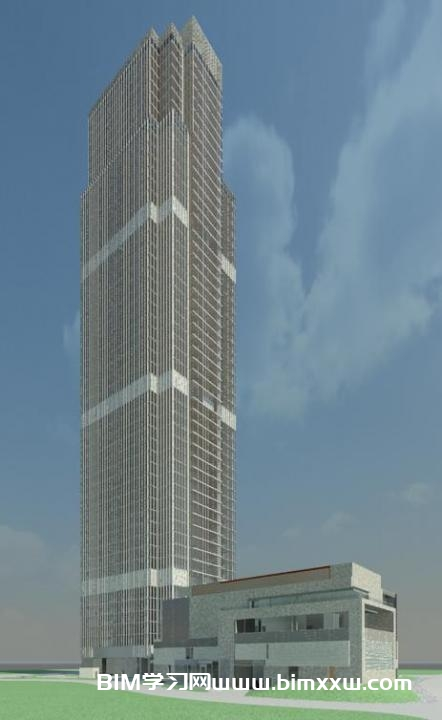 一套超高层办公大厦全专业Revit模型(裙房+场地+建筑+结构)