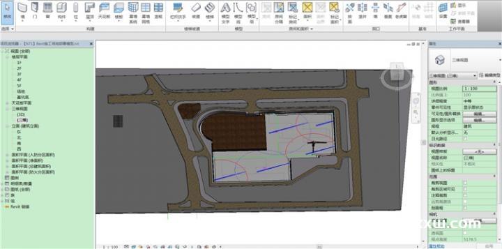某项目一套施工现场策划Revit模型(含案例素材)