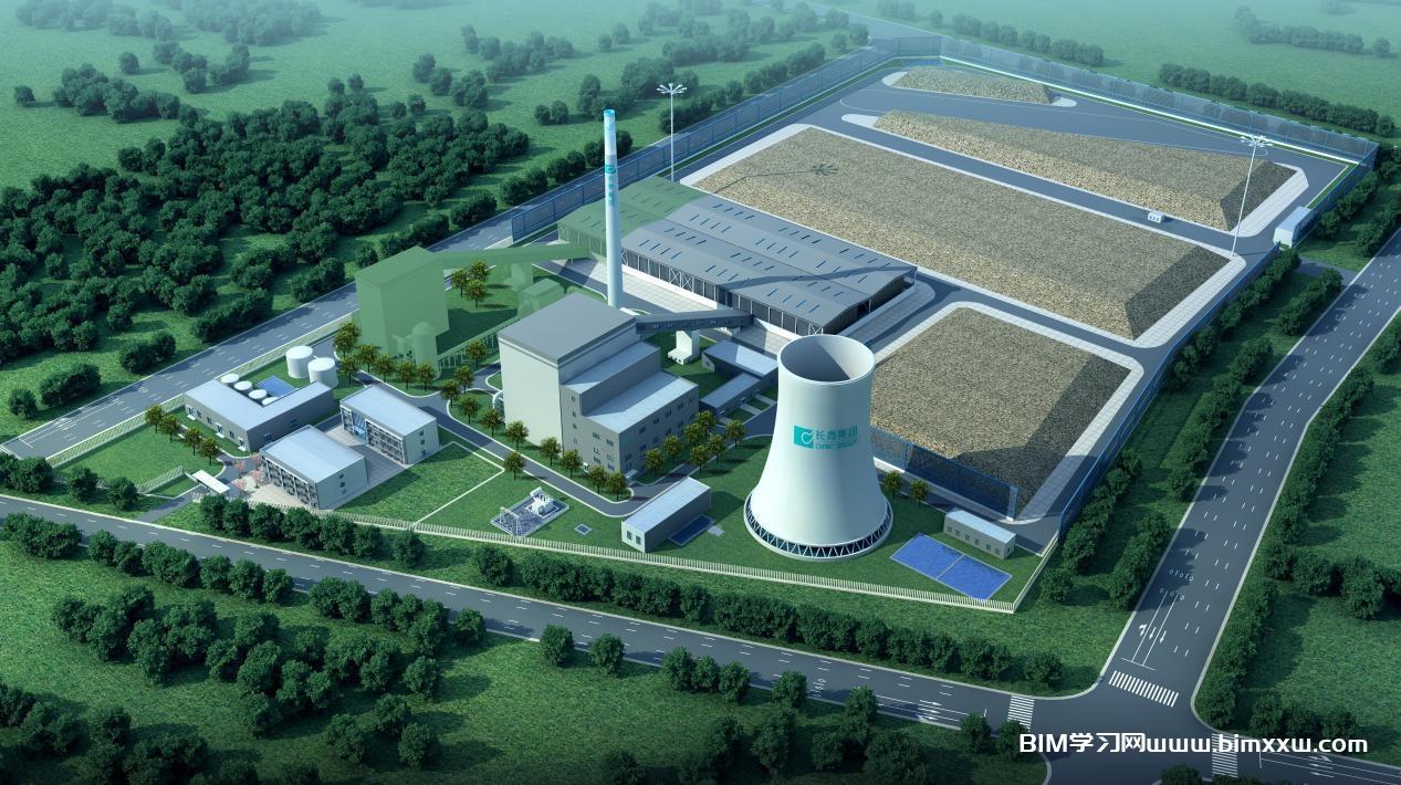 依BIM设计技术:首家中小型生物质热电联产厂打造完成!