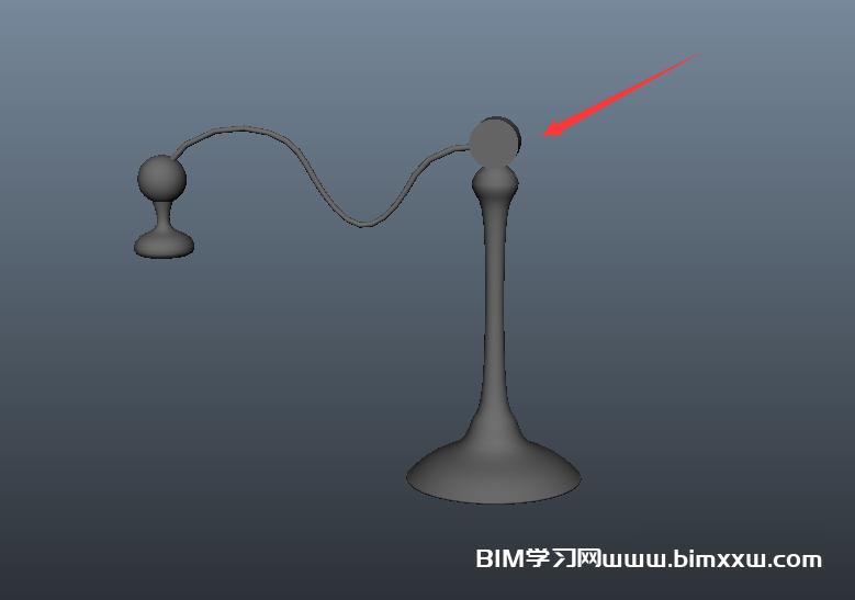 Maya创建对称的台灯模型的方法
