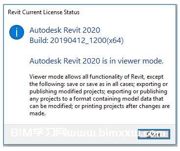 Revit查看器模式错误,不允许保存或打印怎么办?