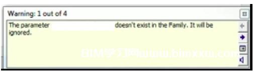 "revit共享参数不存在怎么办?Revit警告:""参数在族中不存在。"