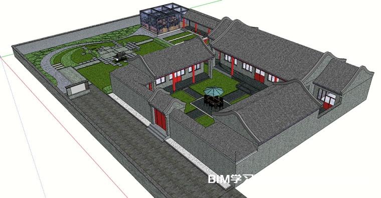SketchUp古建筑模型素材